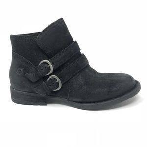 NEW Born PIRLO Black Distressed Ankle Boots Sz 5.5